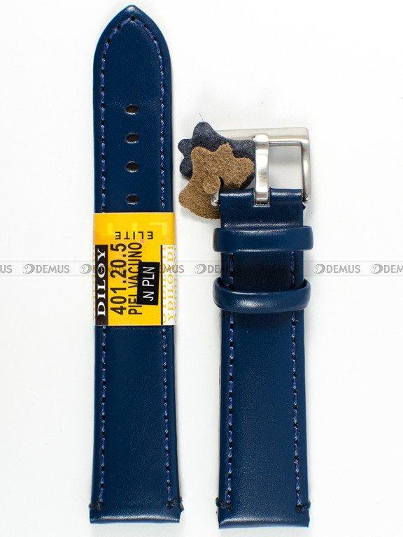 6b9ddeeee72a3d Pasek skórzany do zegarka - Diloy 401.20.5 - 20 mm \ Paski skórzane ...